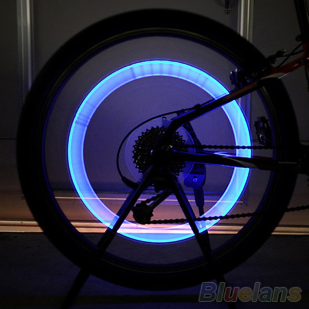 1 Pc Bicycle Tyre Tire Valve Wheel LED Lights Bulbs