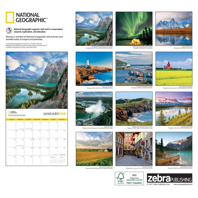 Canada NG Wall Calendar, Canada by Calendars