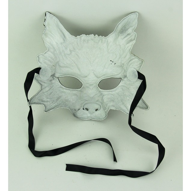 Metallic Gold Scary Wolf Adult Costume Mask Mens Costume Masks