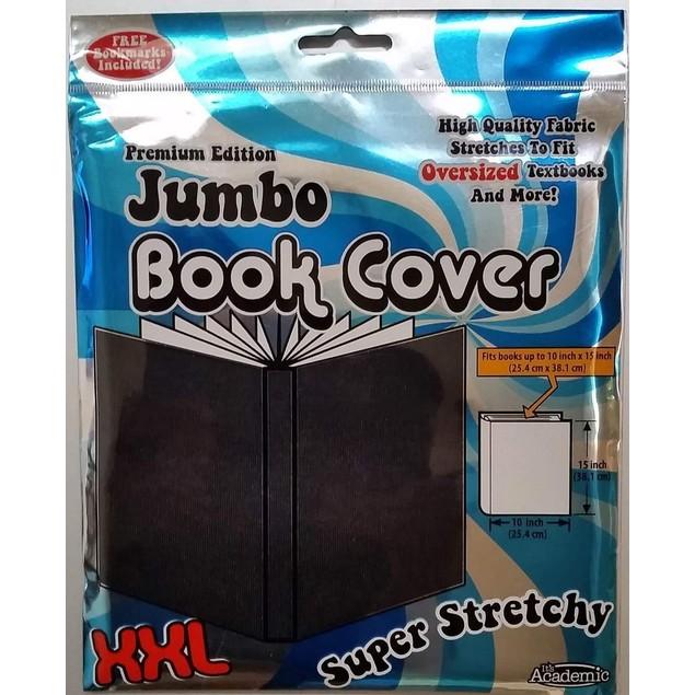 Premium Edition Super Stretch Book Cover: Black - Fits 10 X 15