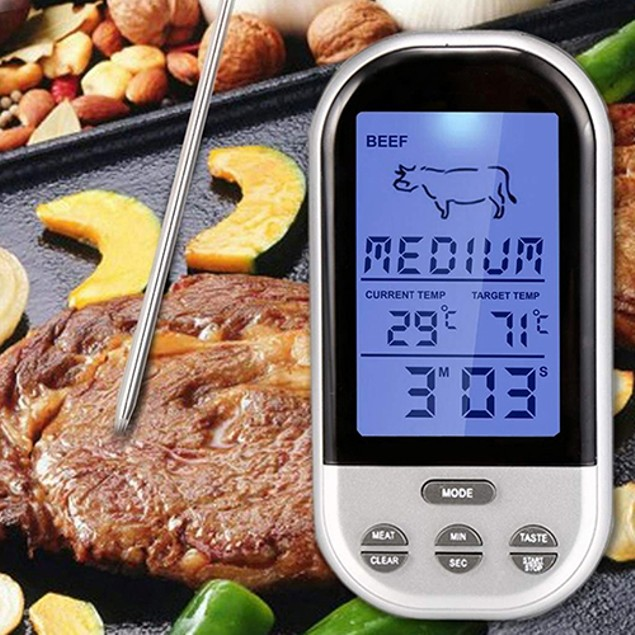 Digital Wireless LCD BBQ Grill Oven Remote Thermometer