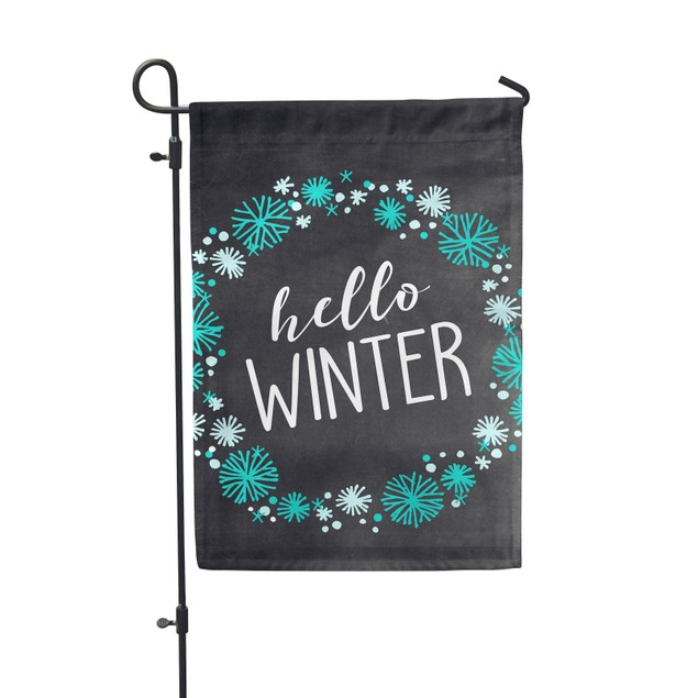 Hello Winter Festive Garden Flag