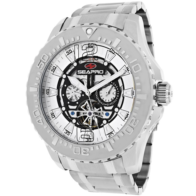 Seapro Men's Tidal PX1 Black Skeleton dial watch - SP3310