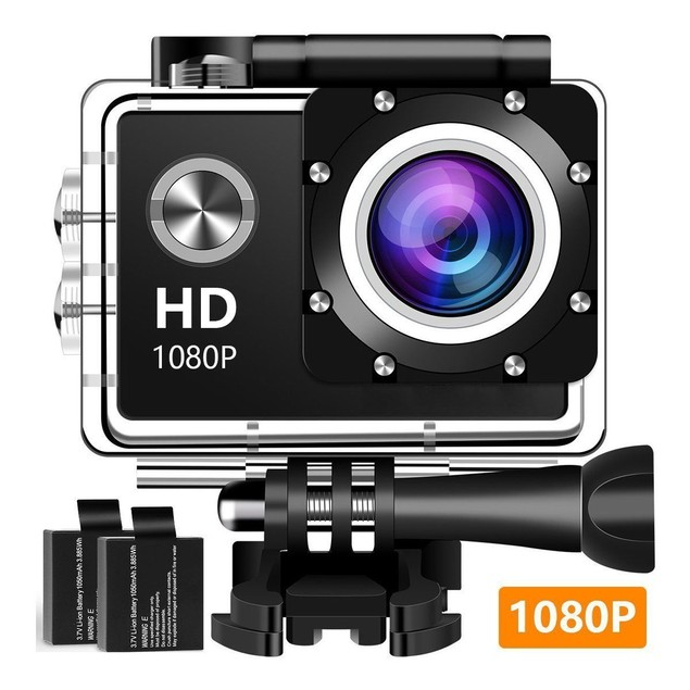 Action Camera Sport 1080P Full HD Waterproof Underwater 140°