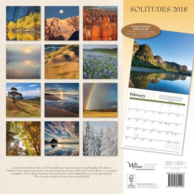 Solitudes Wall Calendar, Nature by Calendars