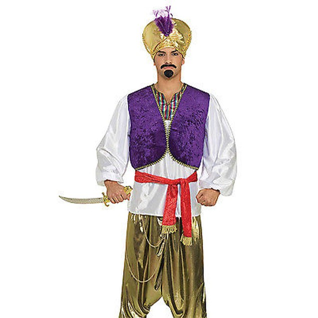 Desert Prince Adult Purple Vest Aladdin Costume Cosplay Movie Disney