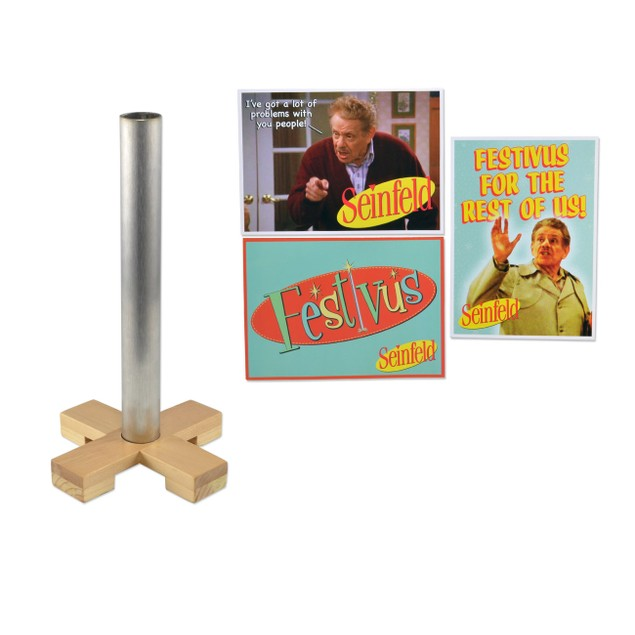 Seinfeld Festivus Pole and Greeting Card Set