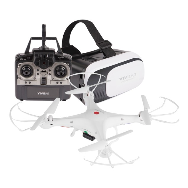 Vivitar DRC-125 Aerial Camera Drone & VR Headset Combo
