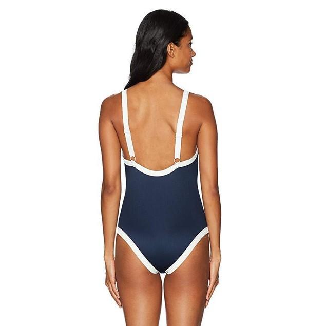 RVCA Women's Bayside One Piece Swimsuit, Federal Blue, Sz  M