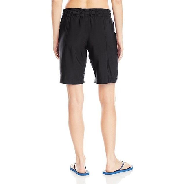 JAG Women's Solid Long Boardshort, Black, SZ M