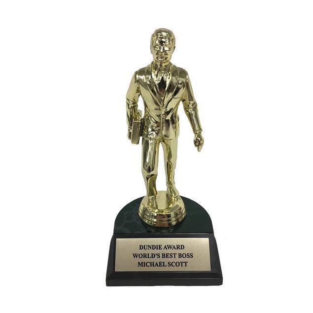 Michael Scott World's Best Boss Dundie Award Trophy