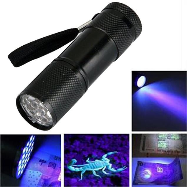 Mini UV 9 LED Flashlight