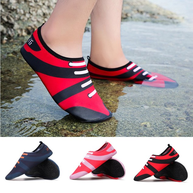 Men Women Printed Quick-Dry Swim Surf Socks Yoga Skin Sports Beach Shoes