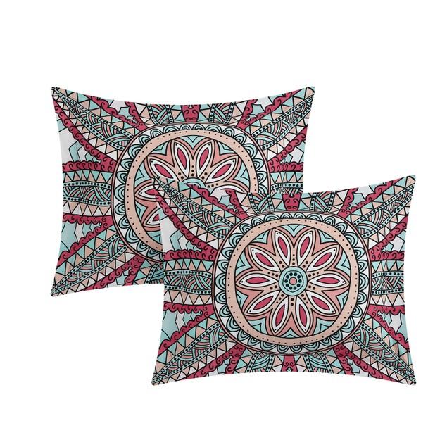 Chic Home 4 Pc Adsila 100%Cotton contemporary Boho Printed  Duvet Cover Set