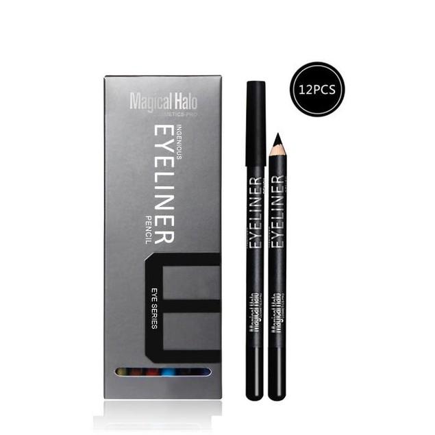 12 Colors Waterproof Eyeliner Pencil