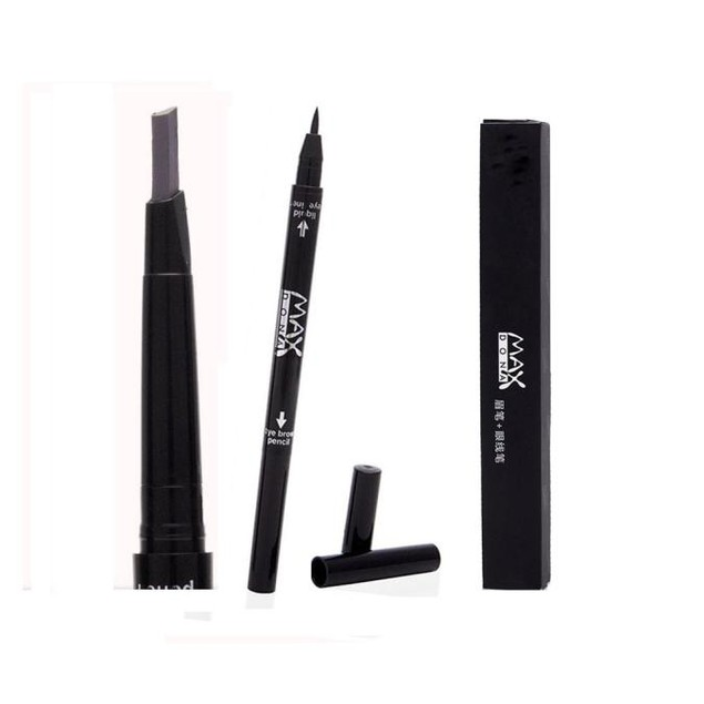 2 in 1 Waterproof Longlasting Eye Liner Eyebrow Eye Brow Pencil