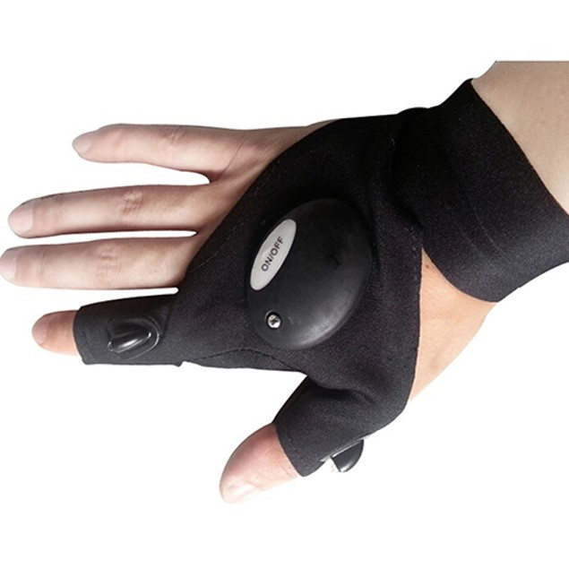 Waterproof LED Flashlight Torch Glove