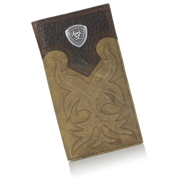 Ariat Men's Boot-Embroidery Rodeo Brown Wallet Medium Brown