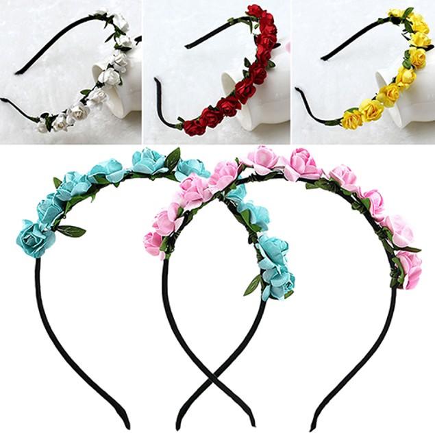 Rose Flower Crown Festival Headband