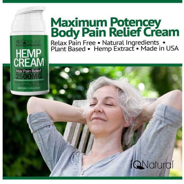 Hemp Cream Lotion for Joint & Muscle Pain Relief
