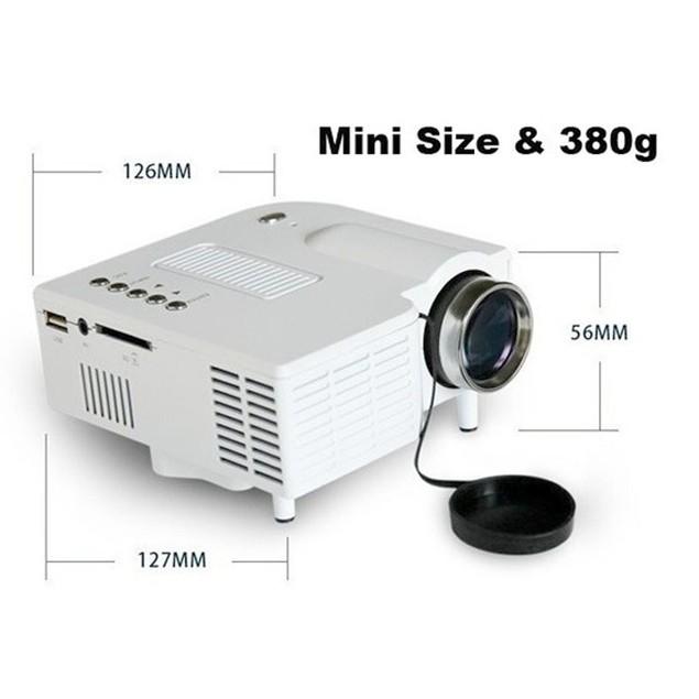 Multimedia LED Projector Home Cinema Theater Support AV VGA USB SD HDMI
