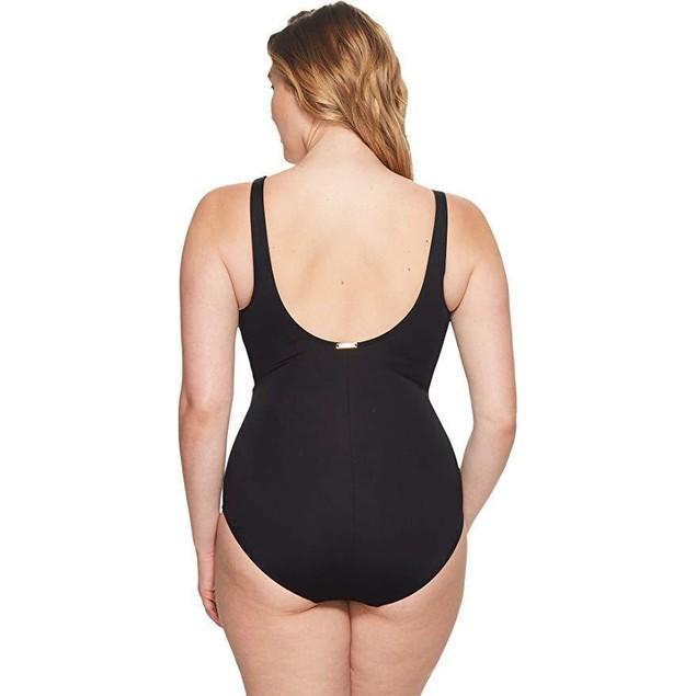 Lauren Ralph Lauren Women's Plus Size Beach Ruffle Over The Shoulder S