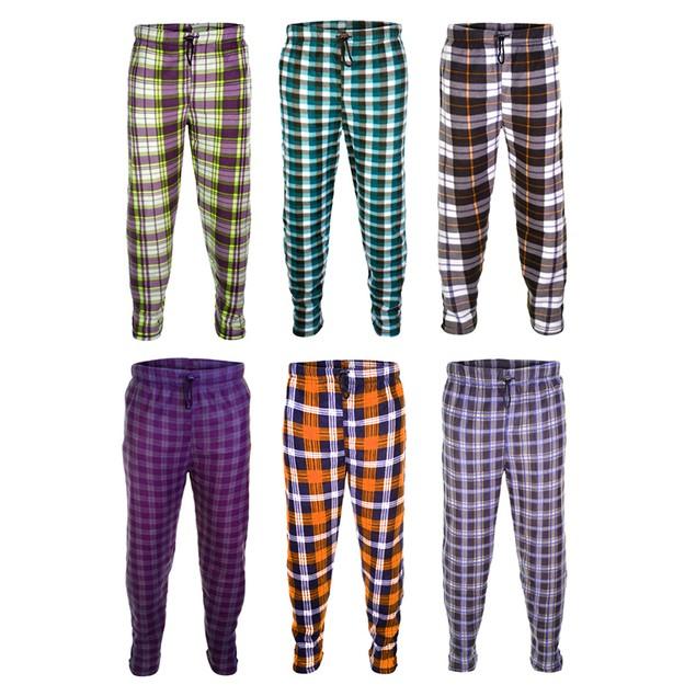 Multiple Pack Mystery Deal: Men's Essential Plaid Fleece Lounge Pants