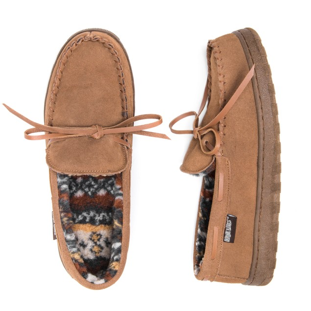 Men's Paul Printed Berber Suede Moccasin