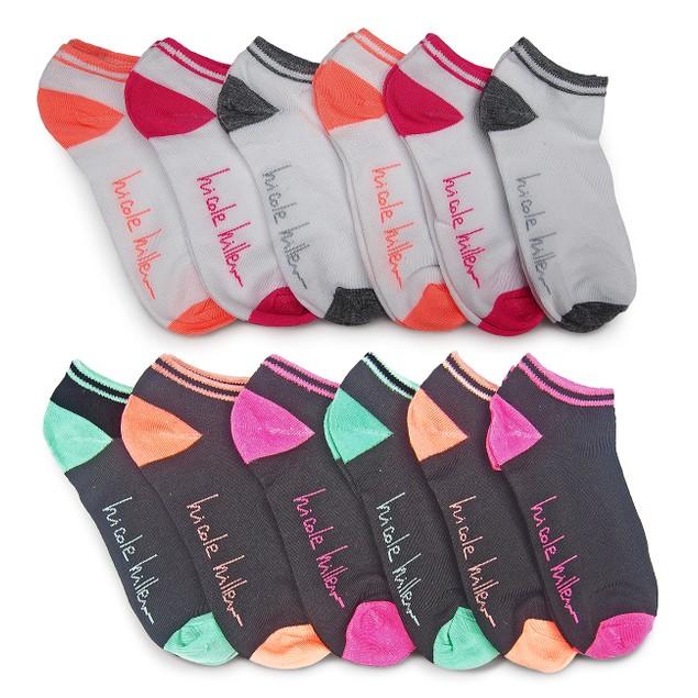 12-Pairs Nicole Miller Women's No Show Socks