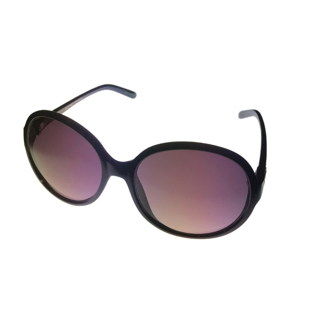 Ellen Tracy Womens Sunglass Black Rectangle Plastic, Gradient Lens 536 2