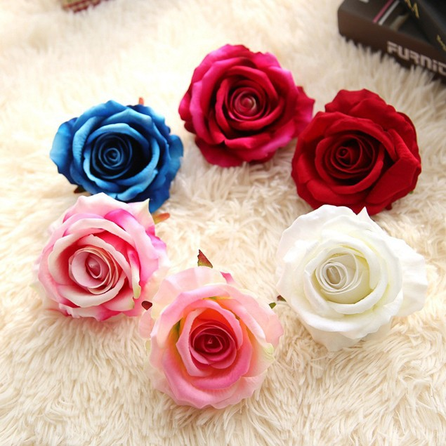 5 Head Latex Touch Rose Flowers For wedding Party Home Bouquet Decor