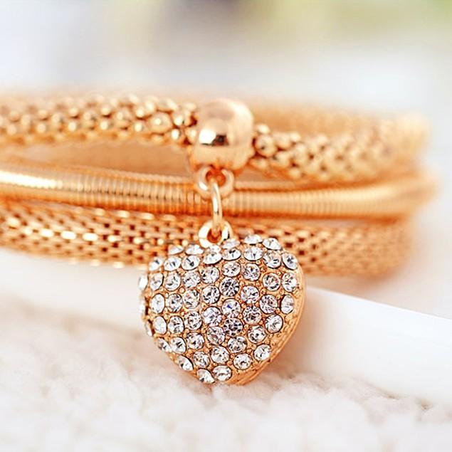 Crystal Heart Bracelets - 3 Colors