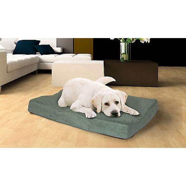 FurHaven Snuggle Terry & Suede Deluxe Memory Foam Pet Bed