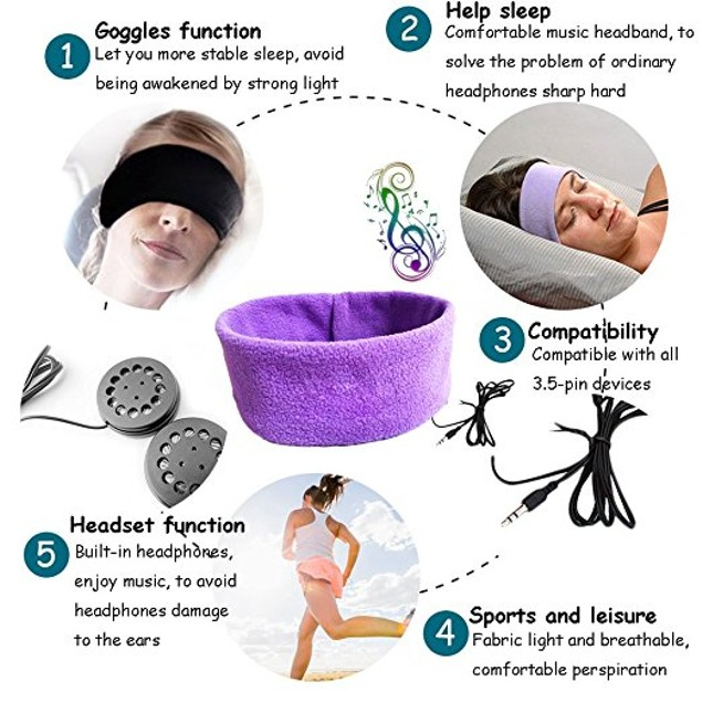 Headphone Headband From Sports To Sleep
