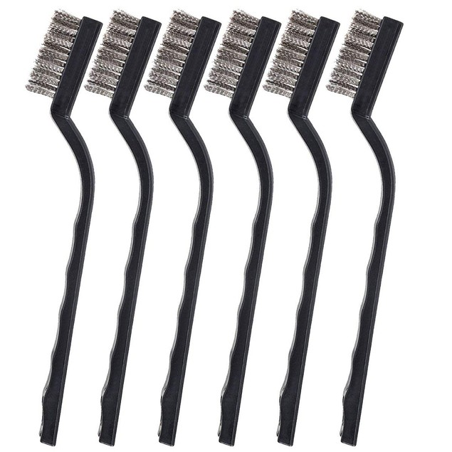 12 Pcs Mini Brass Wire Bristle Brush Rust Removal Tool