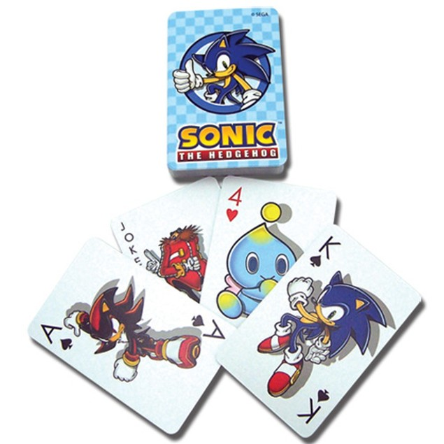 Sonic The Hedgehog Playing Cards Deck Characters Poker Sega Gift