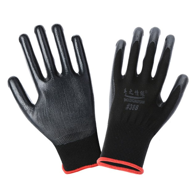 Wearable Coated Gloves Unisex Automotive Work Indoor Outdoor Use