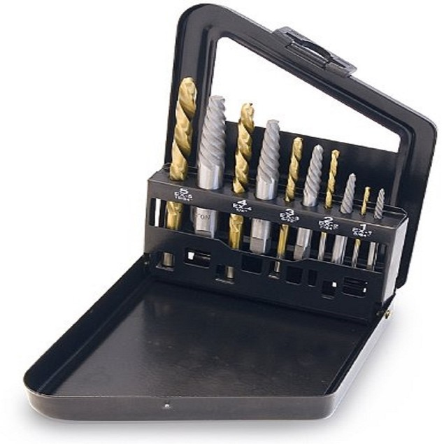 10 Piece Screw Extractor / Left Hand Drill Bit Set TIT16013