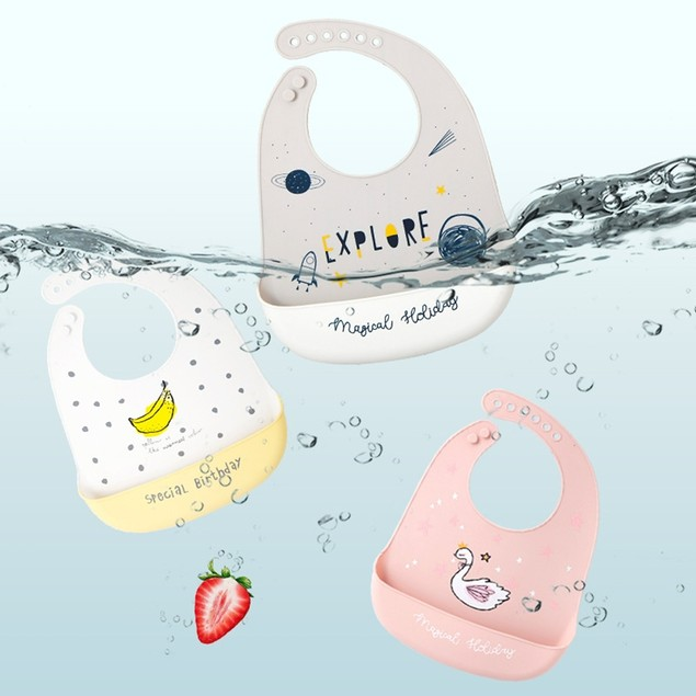 Silicone Bib Baby Eating Bib Children Waterproof And Dirty Saliva
