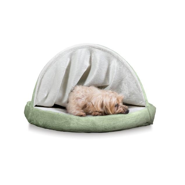 FurHaven Memory Foam Round Microvelvet Snuggery Burrow Pet Bed
