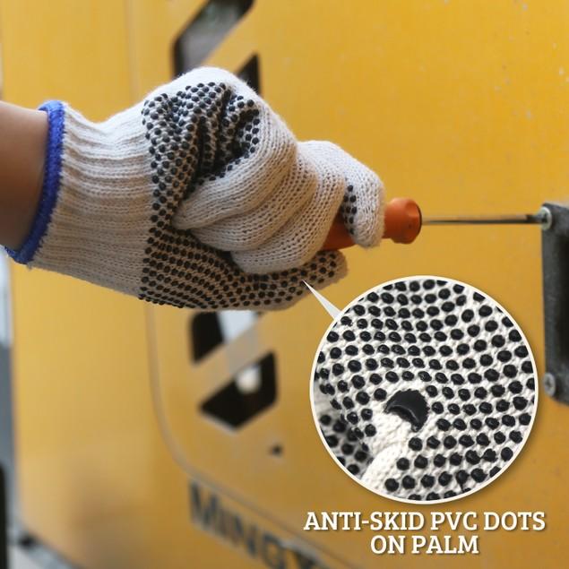 EvridWear 12 Pairs String Knit Safety Work Gloves