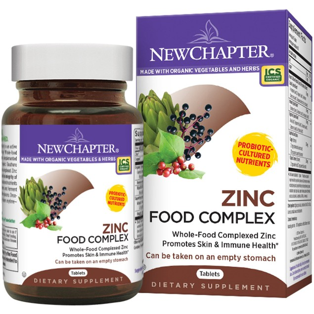 New Chapter Zinc Food Complex Organic, Vegetarian, Kosher Capsules, 15mg,