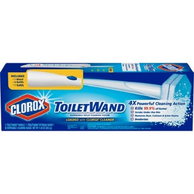 Clorox Toilet Wand Kit with Caddy & 6 Refill Heads