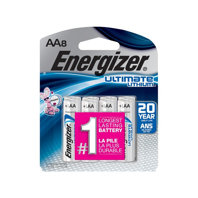 Energizer Ultimate Lithium L91 AA Batteries (8 Pack)