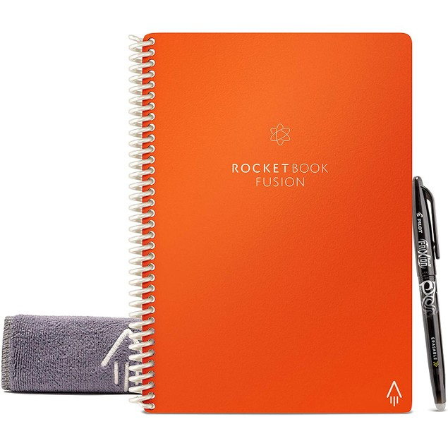 Rocketbook Fusion Smart Notebook w/ 1 Pen + PenStation (New Generation)