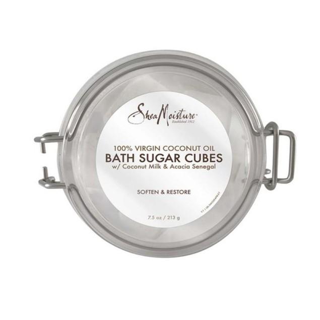SheaMoisture 100% Virgin Moisture Rich Coconut Oil Bath Sugar Cubes, 7.5