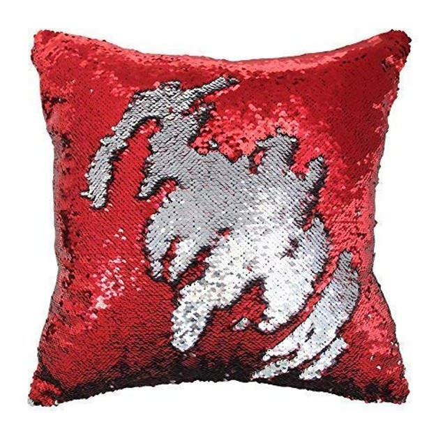 STAEMENT PIECE Mermaid Pillow Reversible Sparkly Accent Sequin