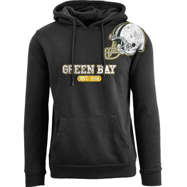 Men's Awesome Football Helmet Pull Over Hoodie