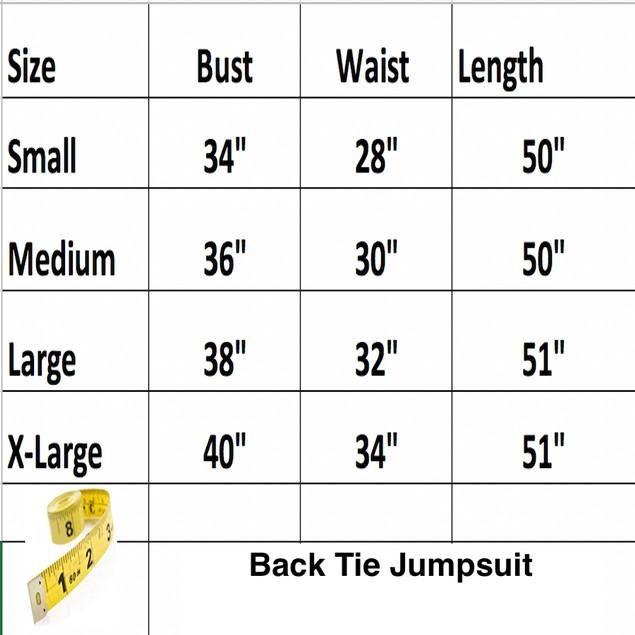 Back Tie Jumpsuit