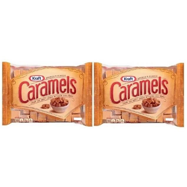 Kraft Original Caramels 2 Bag Pack